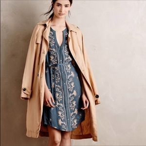 Anthropologie Tiny Sleeveless Embroidered Dress